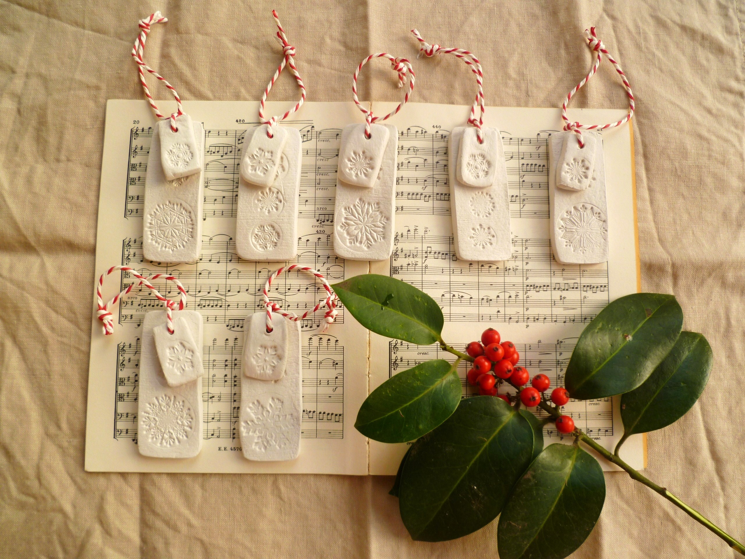 Christmas Decorations Made From Clay : Made by me for your tree decorator s notebook