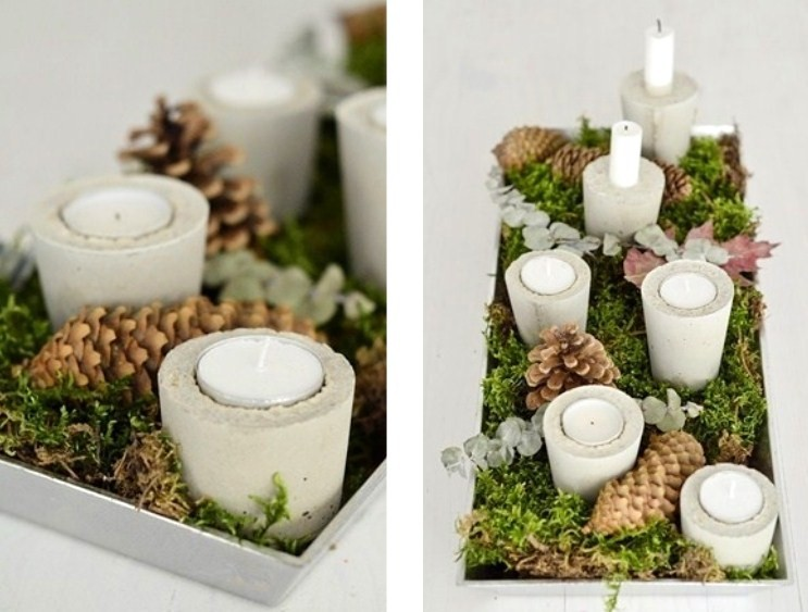 Make your own contemporary concrete candle holders - Decorator's ...
