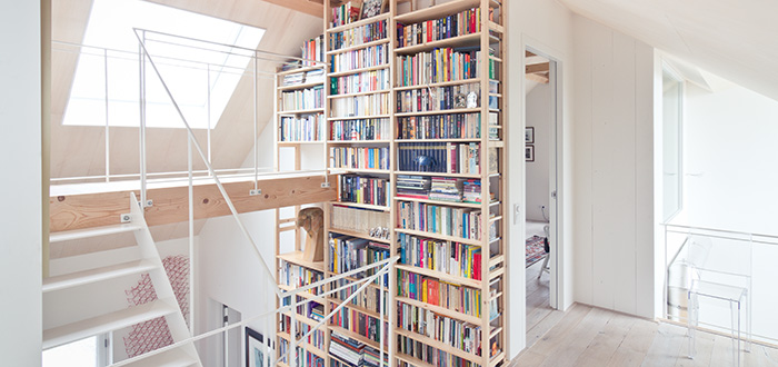 contemporary bookshelf