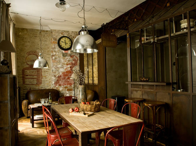 http://decoratorsnotebook.files.wordpress.com/2012/02/industrial-rustic-dining-room.jpg