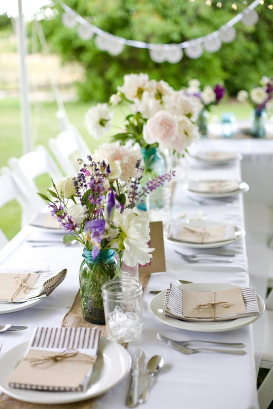 Wedding table ideas decorator 39 s notebook blog for Outdoor table centerpieces