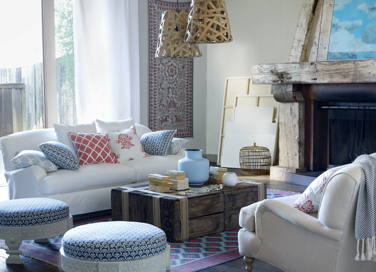 white living room | Decorator's Notebook blog