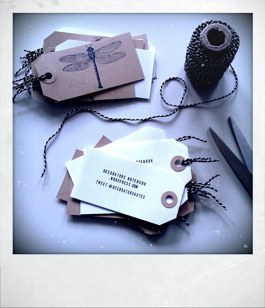diy luggage tag business cards  decorator's notebook