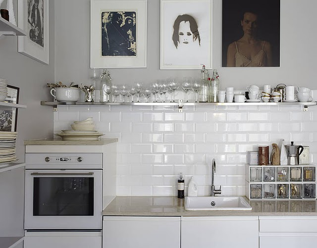 twists, a classic white kitchen can be so much more interesting