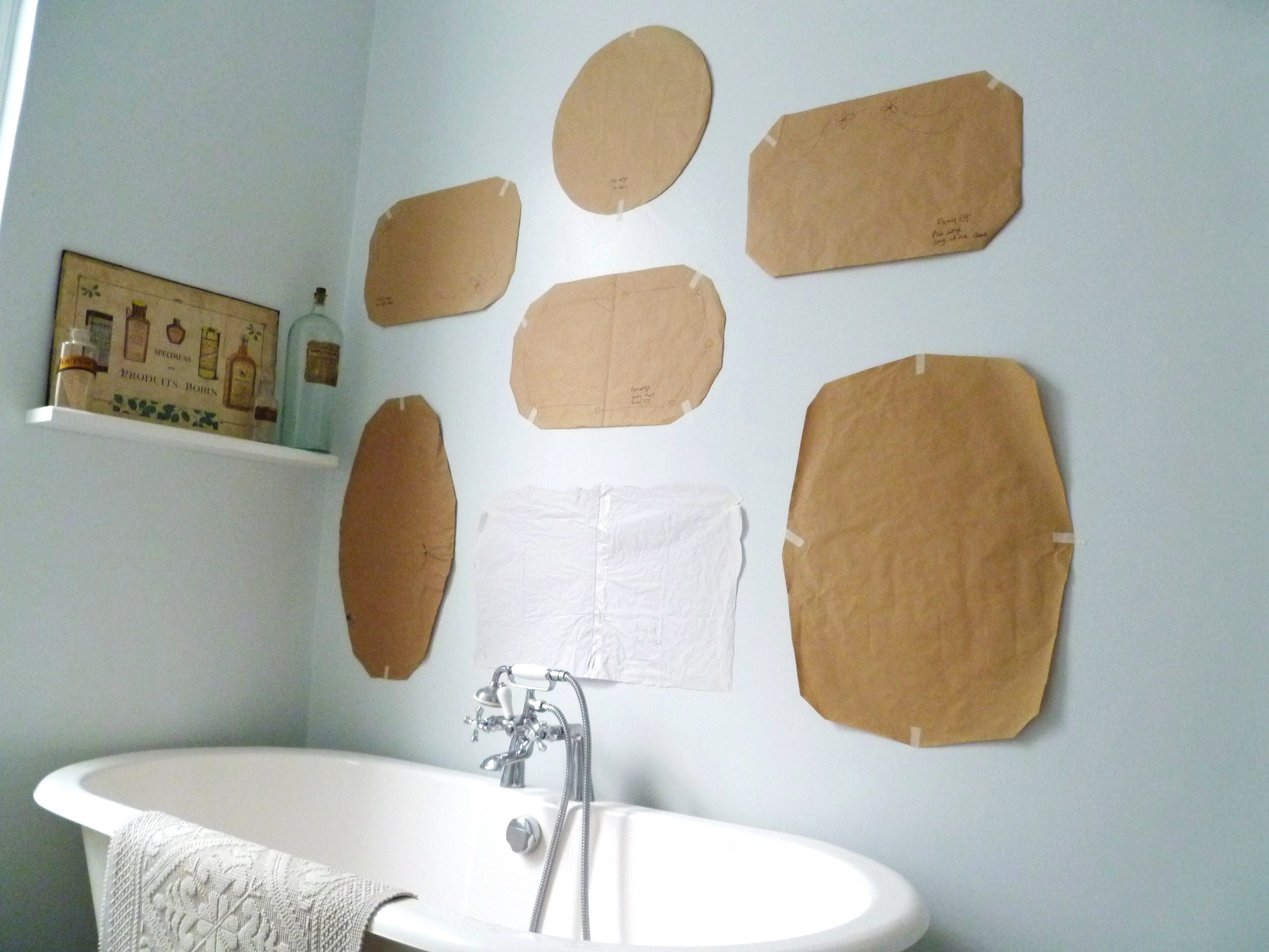How To Hang A Mirror On The Wall how to hang a display of vintage mirrors | decorator's notebook blog