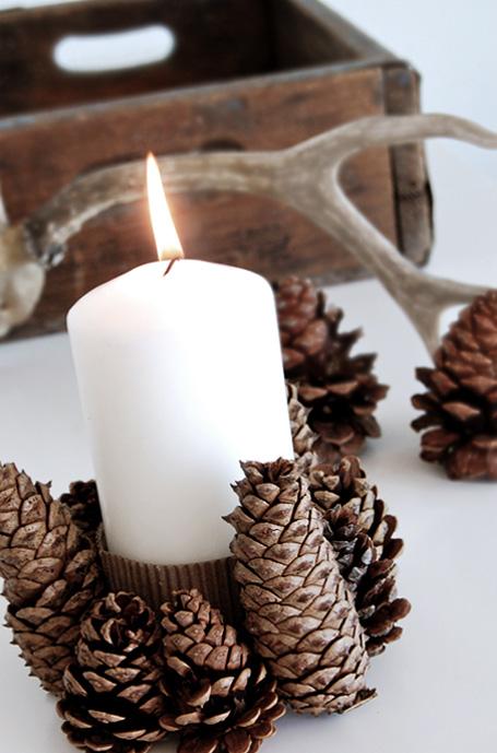 pine cone centrepiece Christmas