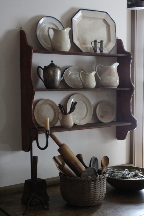 ironstone crockery display
