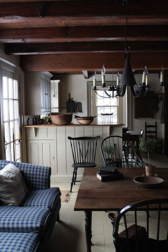Painted Country Kitchen. Simple Rustic Living Room ... Part 58