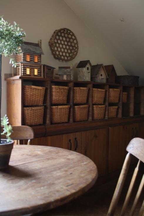 shelf storage with baskets