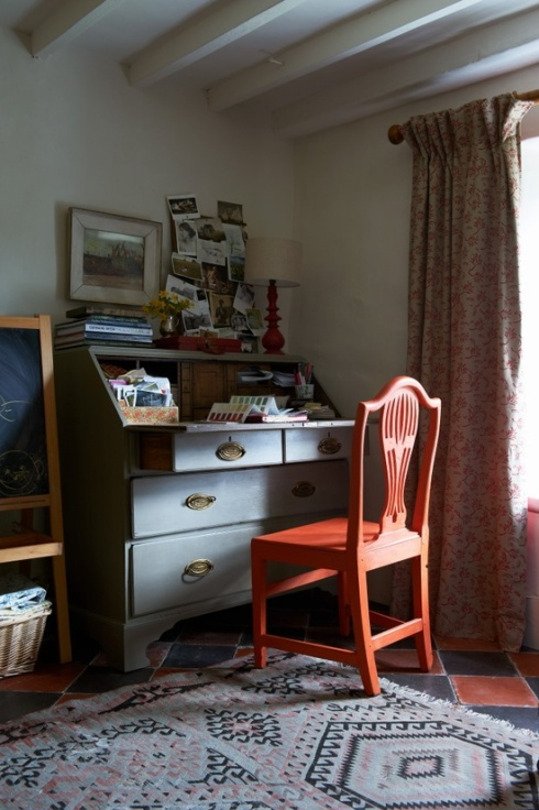 traditional home office in period home
