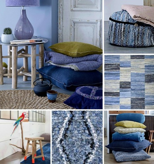 Denim home interior trend