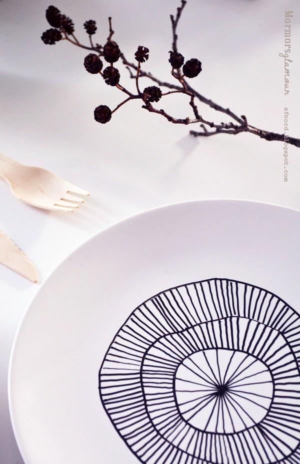 porcelain pen plate DIY