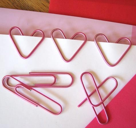 heart shape paperclips valentines craft ideas