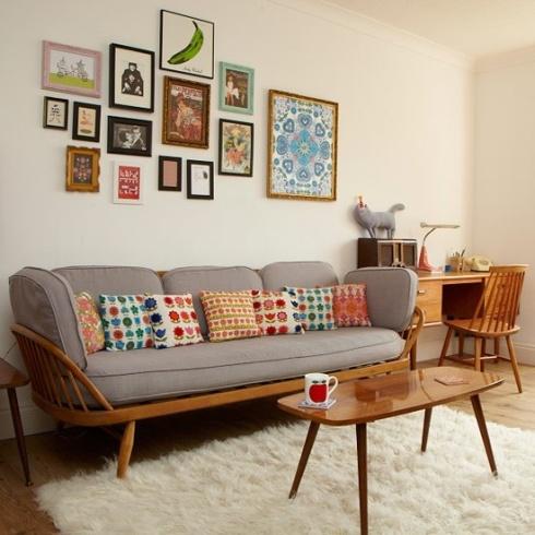 midcentury vintage living room
