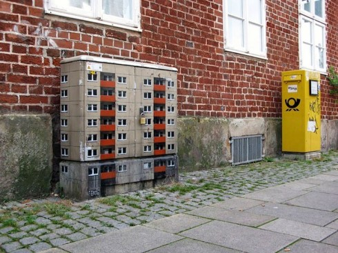 Stencilled cities by Evol street artist Berlin