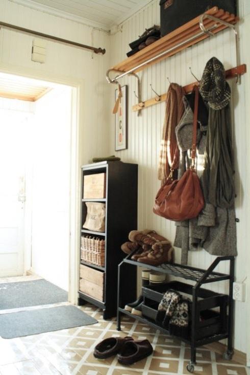 vintage hallway storage ideas