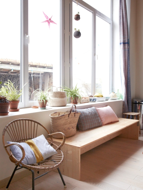 large windows in French apartment