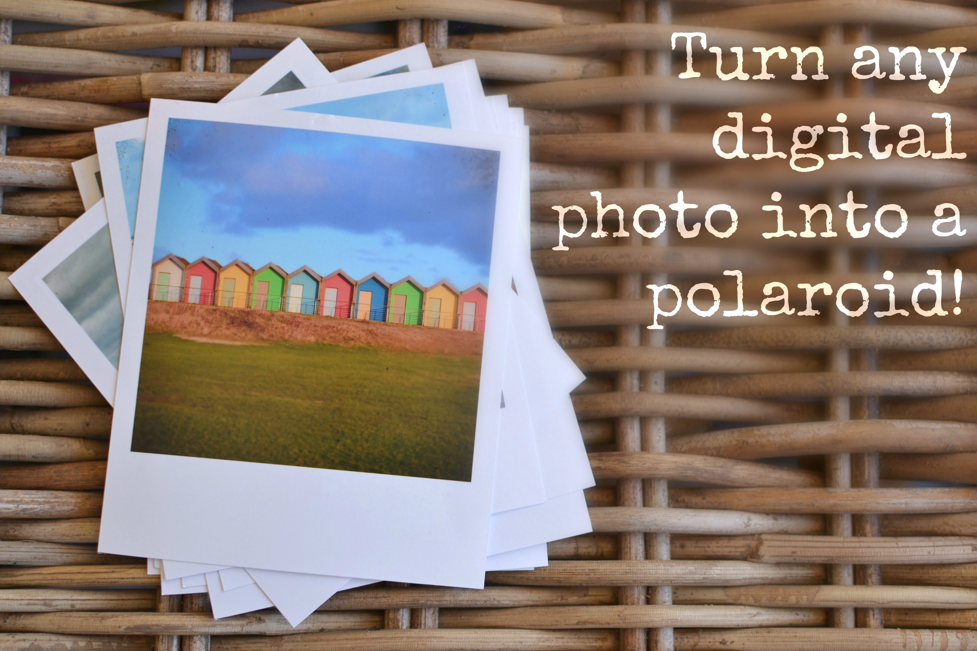 Print any digital photo as a polaroid free template from Decorators ...