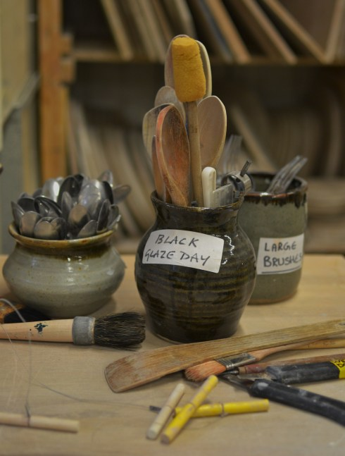 pottery studio at West Dean college