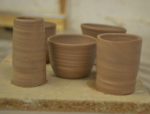 beginners thrown pots