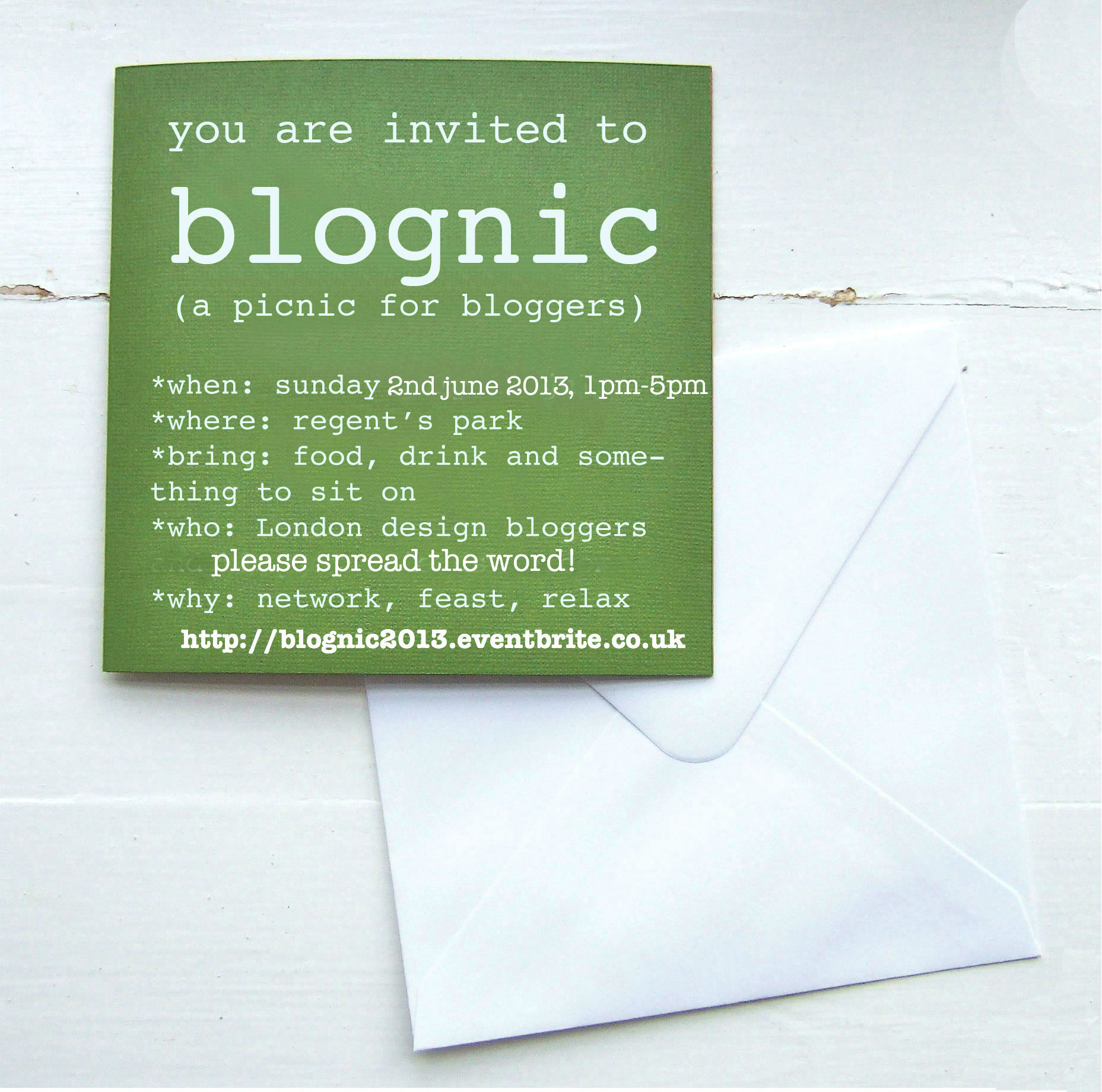 blognic invitation 2013