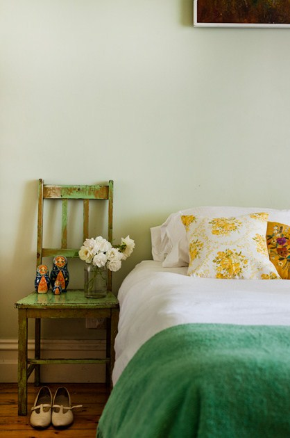 get enough of this colour combo so this delicate bedroom scheme
