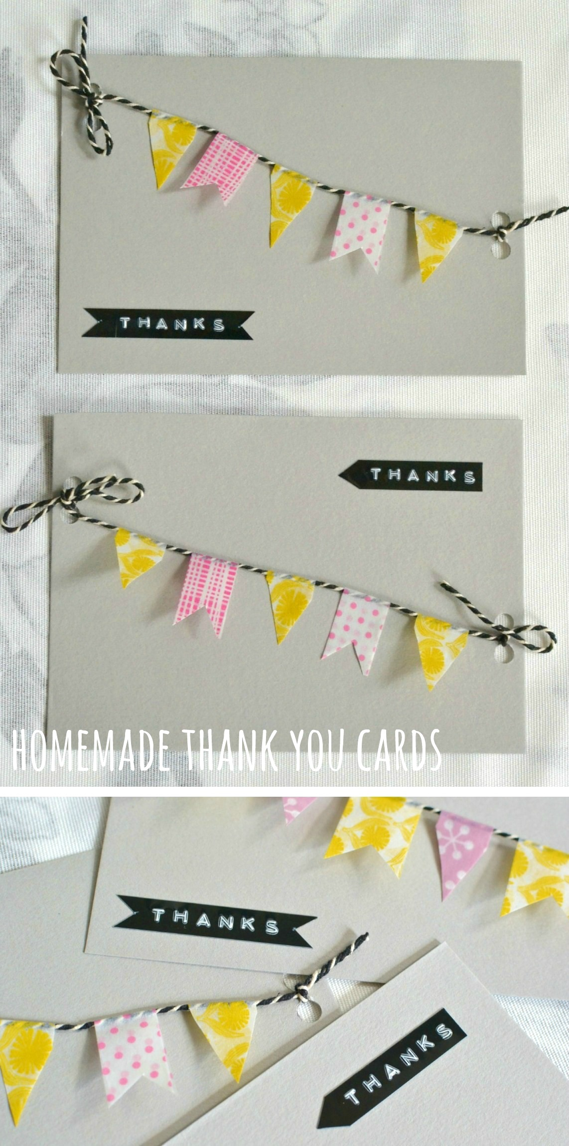 Cute And Quick Homemade Thank You Cards Decorator S Notebook