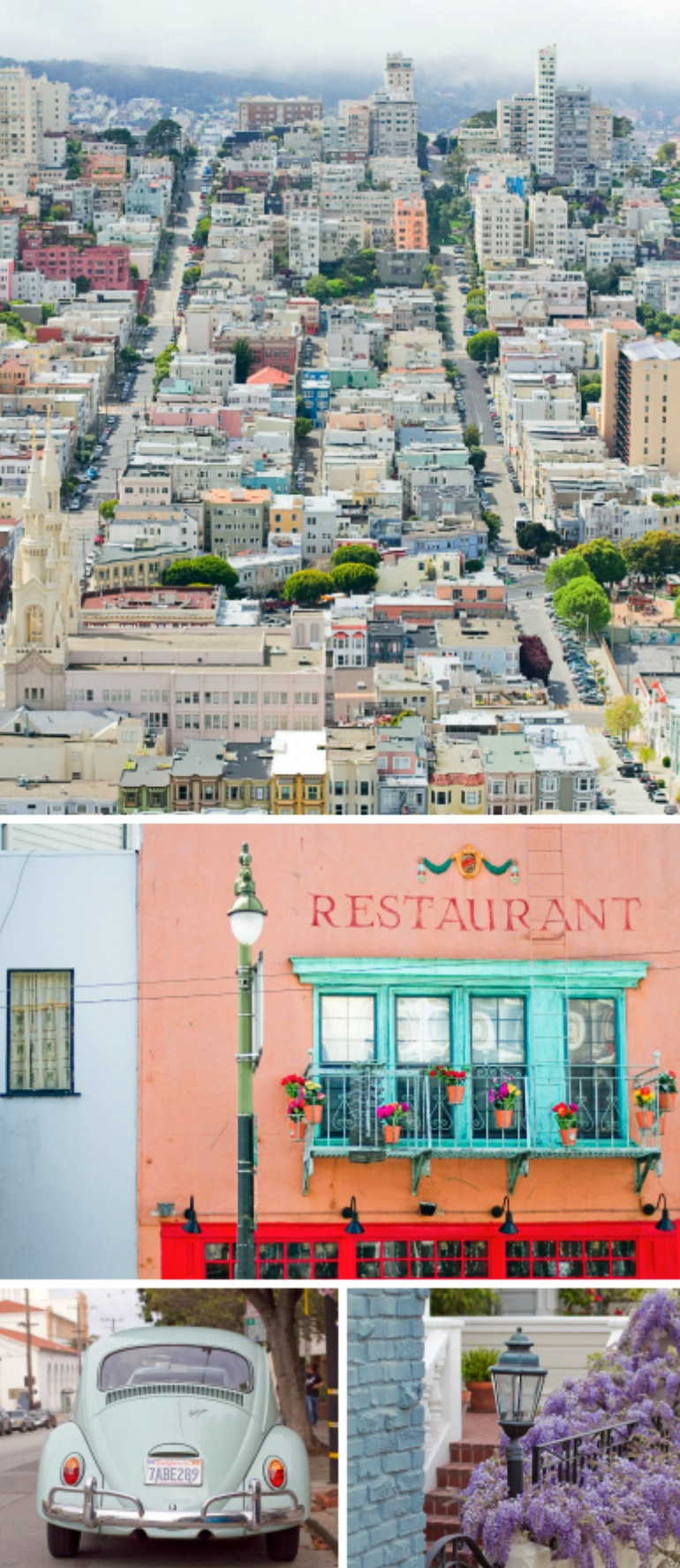 Colours and architecture of San Francisco