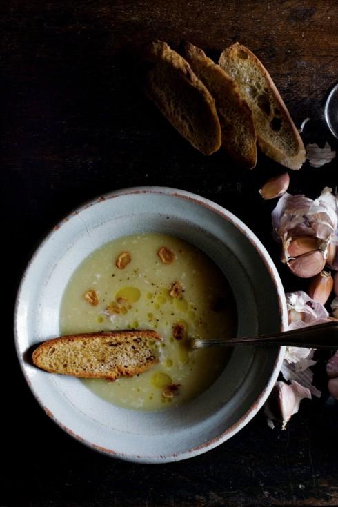 recipe for garlic soup manger