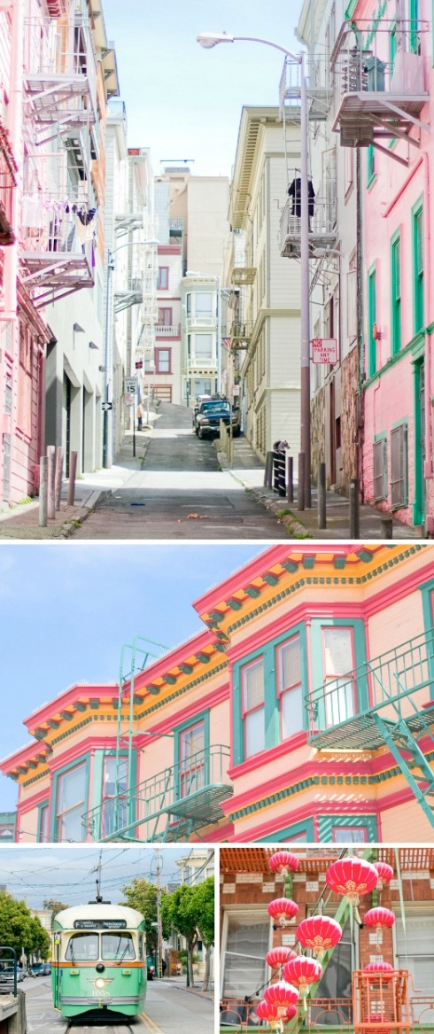Photographs of San Francisco colours and architecture