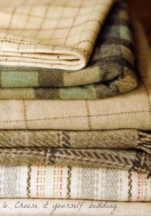 pile of wool blankets