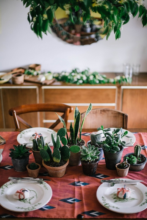 table decorated with cacti local milk blog