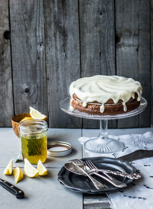Oat-Lemon-Poppy-Seed-Layer-Cake- top with cinnamon