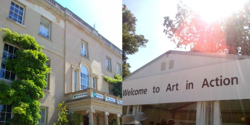 art in action at waterperry house oxford