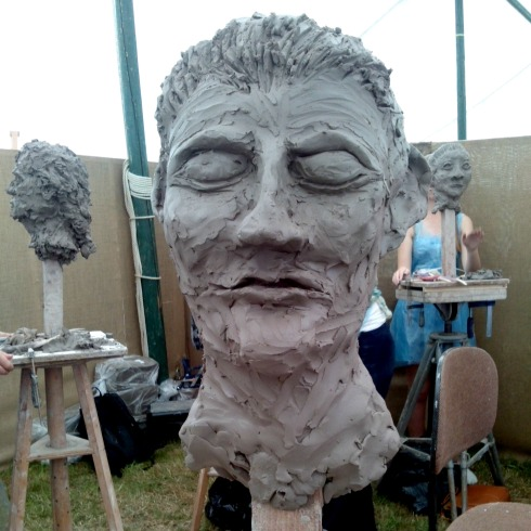 art in action sculpting clay head