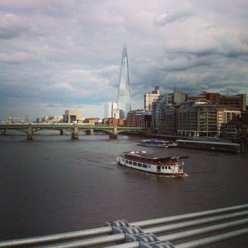 london skyline from millenium bridge