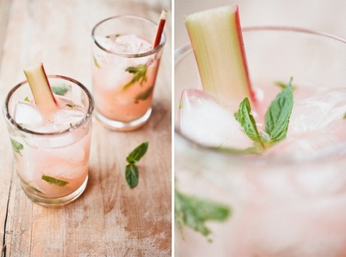rhubarb mojito cocktail recipe