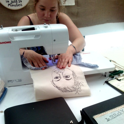 stitched portraits harriett riddell