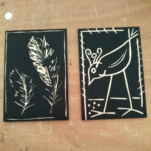 woodcut printing blocks art in action