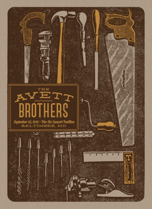 avett brothers band poster status serigraph