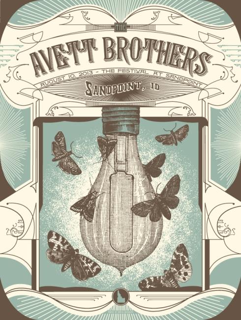 avett brothers poster status serigraph