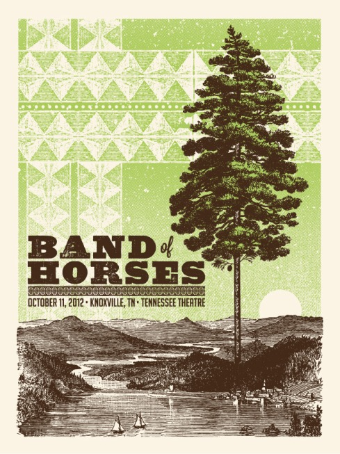 band of horses poster status serigraph
