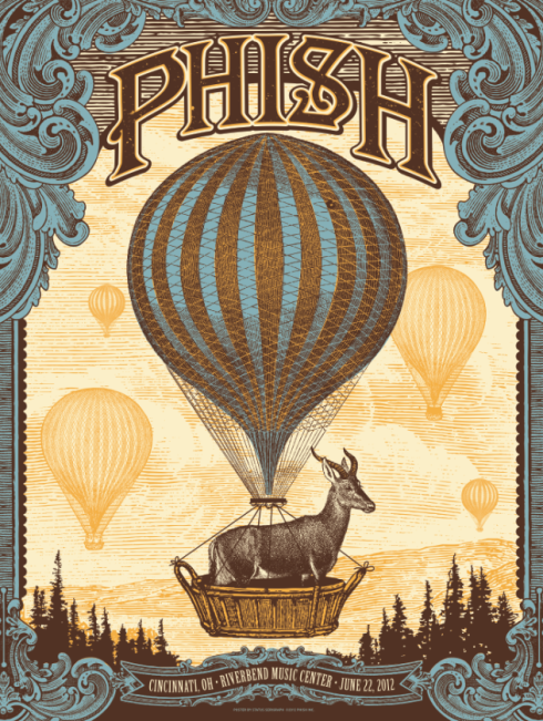 Cincy_Phish poster status serigraph