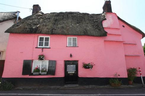 pink house in devon