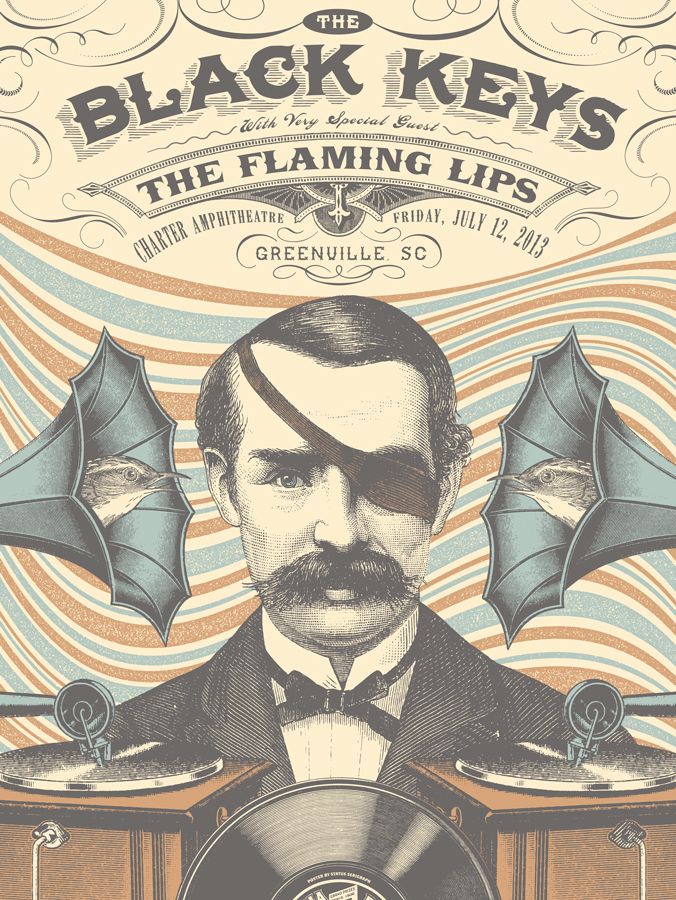 flaming lips band poster status serigraph