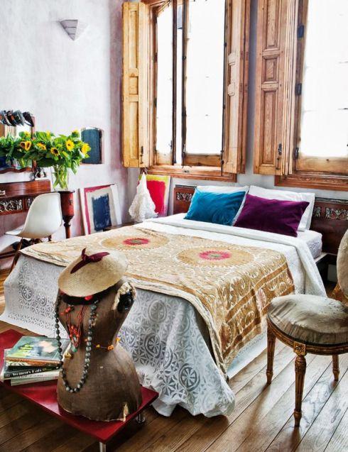 eclectic bohemian bedrooms