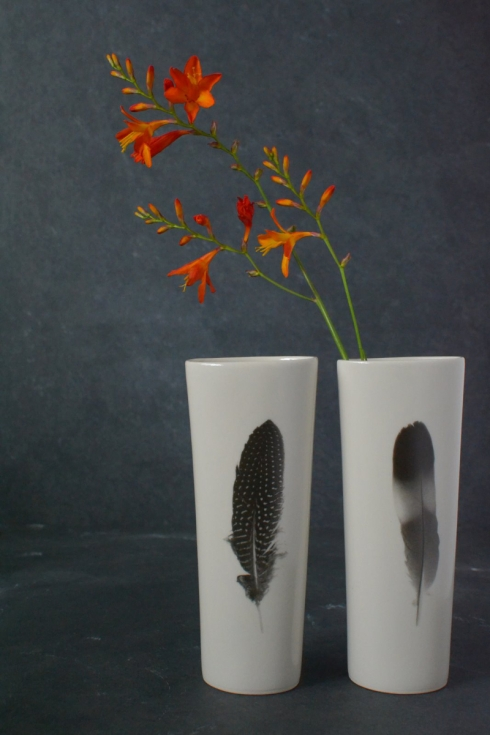 Feather vases - £34 each - Decorator's Notebook Shop