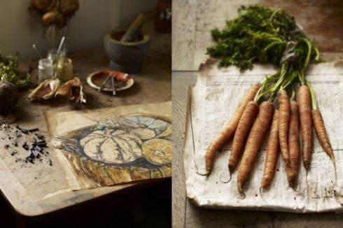vegetables drawn by Natasha Clutterbuck Andrew Montgomery