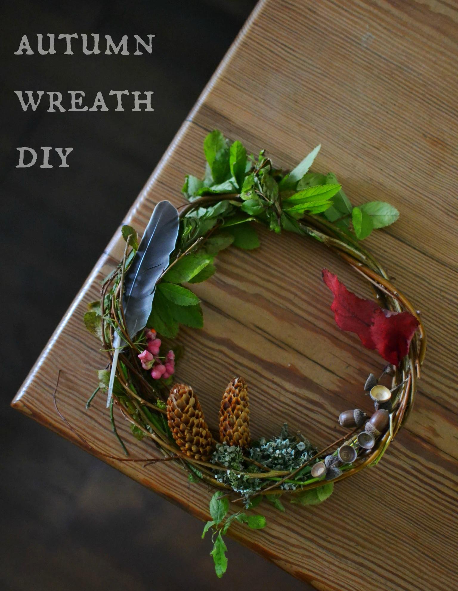 15-minute make: autumn wreath DIY - Decorator's Notebook