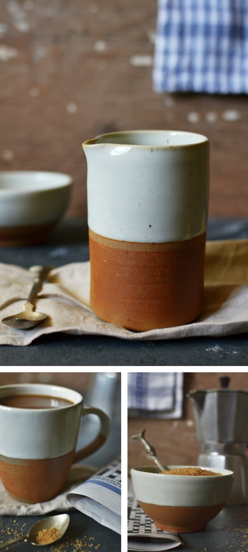 dipped terracotta jug mug and bowl Decorator's Notebook